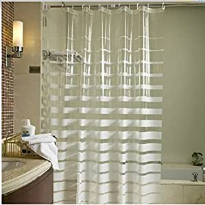 Horizontal Stripe Shower Curtain Beach Stripe Shower Curtain