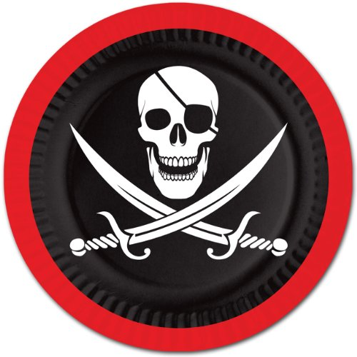Pirate Lunch Plates 8ct - 1