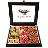 Chocholik Dryfruits Gift - Nicely Decorated Chocolates & Dryfruits Box - Gifts For Diwali