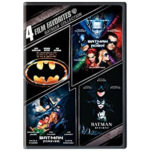 Batman Collection: 4 Film Favorites (Batman 1989 / Batman Returns / Batman Forever / Batman & Robin)