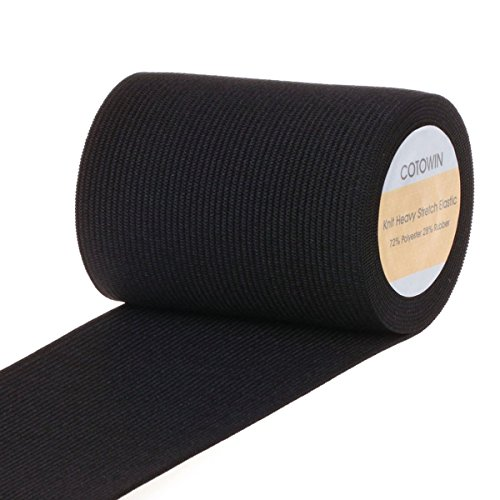 COTOWIN 3-inch Wide Black Heavy Stretch High Elasticity Knit Elastic Band 3 Yards (Wide Elastic For Sewing compare prices)