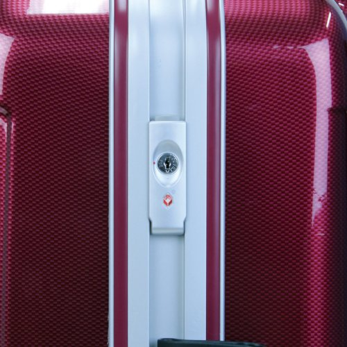 LEGEND WALKER スーツケース キャリーバッグ キャリーケース 4輪 TSAロック PC+ABS 鏡面仕上げ日乃本キャスター搭載 59L (ワインレッド)