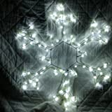 Christmas Decorations - Large 50cm Rope Light Star Snowflake Twinkling White - Indoor or Outdoor Ropelight Home Decoration