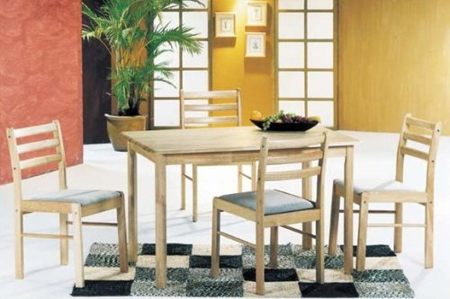 Picture of Acme Furniture 5-piece Solid Wood Dinette Set (VF_AZ28-14211) (Dinette Sets)