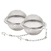 Fu Store 2pcs Stainless Steel Mesh Tea Ball 2.1 Inch Tea Infuser Strainers Tea Strainer Filters Tea Interval Diffuser for Tea