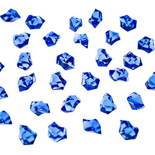 Acrylic Color Ice Rock Crystals Treasure Gems for Table Scatters, Vase Fillers, Event, Wedding, Arts & Crafts, Birthday Decoration Favor (190 Pieces) by Super Z Outlet® (Royal Blue) (Royal Blue Ice Gems compare prices)