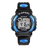 Bestpriceam TM Blue Multifunction Man Digital LED Quartz Alarm Date Sport Waterproof Watch