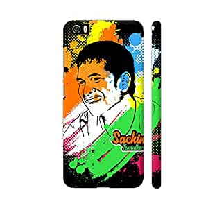 Colorpur Sachin Tendulkar Painting On Black Artwork On Xiaomi Mi 5 Cover (Designer Mobile Back Case) | Artist: Designer Chennai
