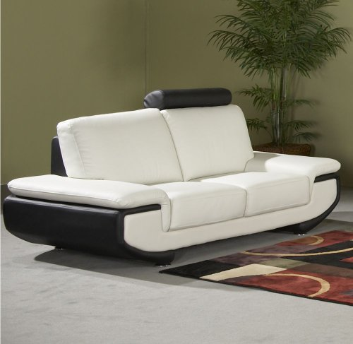 Buy Low Price Chintaly Imports Austin Leather Loveseat (AUSTIN-LS)