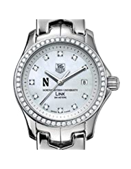 Northwestern University TAG Heuer Watch - Women's Link Watch with Diamond Bezel