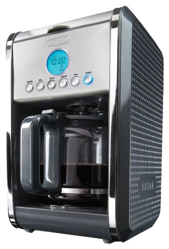 BELLA Dots Collection 12-Cup Programmable Coffee Maker, Grey