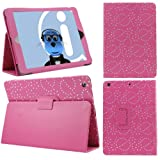 ITALKonline PADWEAR PINK BLING DIAMOND LEAF FLOWER Multi Function Multi Angle Luxury Executive Wallet Stand Cover Typing Case with Magnetic Sleep Wake Sensor Feature For Apple iPad Air (2013) (Wi-Fi and Wi-Fi + 3G) 16GB 32GB 64GB 128GB
