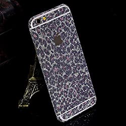 Supstar Sparkly Crystal Diamond Sticker Full Body Skin Wrap Covered Edges Vinyl Decal Screen Protector Film for Apple iPhone 6 Plus/6s Plus 5.5 Inch (Leopard Pink)