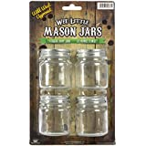 Wee Little Mason Jars with Lids - For Food, Drinks, and Decoration - Clear Glass, No Markings - 100% Crack-Free Guarantee - Dishwasher Safe - 2.5 Ounces - 4-Pack