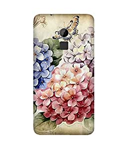 Vintage Flowers Back Cover Case for HTC One Max