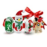 Bling Jewelry 925 Sterling Glass Christmas Bead 4 Charm Set Pandora Compatible