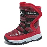 Boys Snow Boots Outdoor Waterproof Winter Kids Shoes by KALUQI