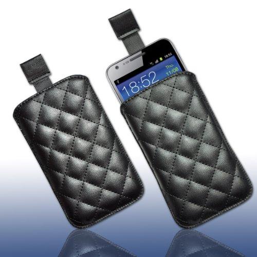 Handy Tasche Kunstleder1 schwarz für Samsung C3312 Rex60 / S5222R Rex80 / Galaxy Young S6310 / Galaxy Young Duos S6312 / Galaxy Pocket Plus S5301 / Samsung Galaxy Pocket Neo S5310 / Alcatel OT 903D / Alcatel OT Star 6010D