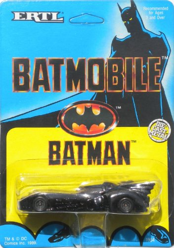 Ertl 1989 Batman> 1:64 Scale Batmobile Variant Bob Kane Card Art