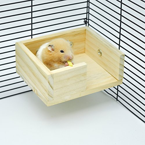 Niteangel Wooden Hamster Mouse Small Animals Lookout Platform 51L6xD 2BAcgL