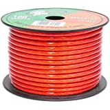 Pyramid RPR10100 10 Gauge Power Wire 100 feet OFC (Clear Red)