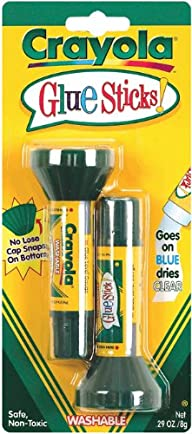 Crayola .29oz Glue Sticks, 2 count (5…
