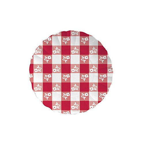 Creative Converting Paper Tray, 11-Inch, Red Gingham