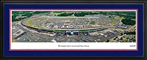 NASCAR Tracks - Michigan International Speedway Aerial - Framed Poster Print by Laminated Visuals
