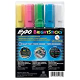 Sanford Wet Bright Sticks Wet-Erase Fluorescent Markers, Assorted Fluorescent Colors, 5-Pack (14075)