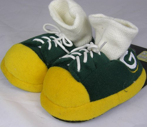 Green Bay Packers NFL Premium Baby Sneaker Slippers by Forever Collectibles