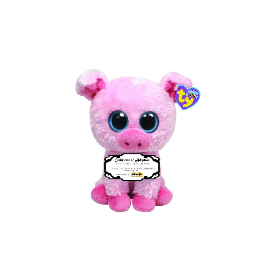 4ddd48d83bf Ty Beanie Boo Corky the Pig with Adoption Certificate on PopScreen