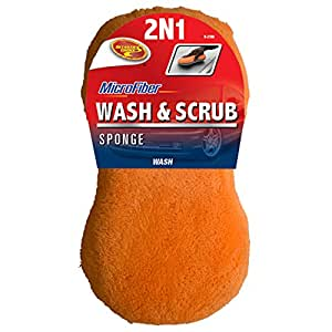 Detailer's Choice 9-21M 2N1 Microfiber Wash and Scrub Sponge - 1-Each