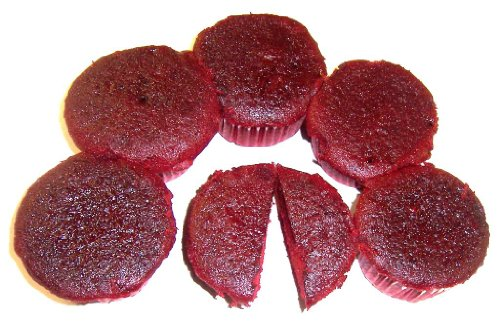 Scott's Cakes Create your own Cupcakes with Red Velvet Cake & Your Choice of Icing & Jimmies - 6 Pack