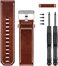 Garmin 010-12168-12 Premium Leather Watch Replacement Band for D2 Bravo