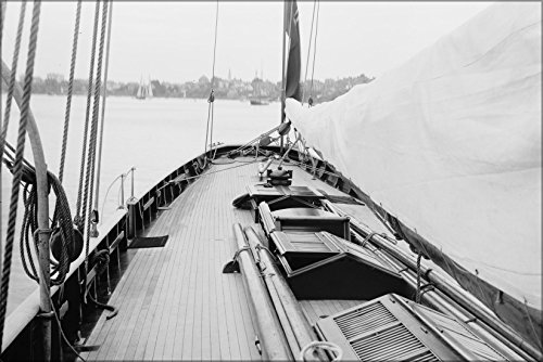 24x36 Poster; The Deck Of The Cutter Galatea (John Beavor-Webb Design, 1885), The 1886 Challenger Of The America'S Cup Built At John Reed & Sons' Shipyard, Southampton