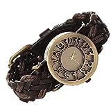 Meily アンティーク風 腕時計 レザーブレスレットタイプ ウォッチ アクセサリー