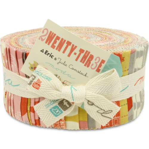 Moda 2wenty-Thr3e Jelly Roll, Set of 40 2.5x44-inch (6.4x112cm) Precut Cotton Fabric Strips