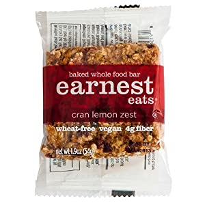 Earnest Eats Baked Whole Food Bar, Cran Lemon Zest, 1.9-Ounce Bars (Pack of 12)
