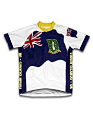 Virgin Islands - UK Flag Short Sleeve Cycling Jersey for Women