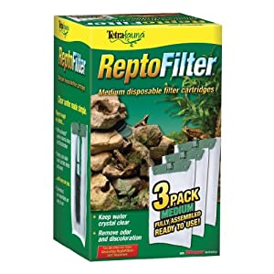 Tetra 25845 ReptoFilter Filter Cartridges, Medium, 3-Pack