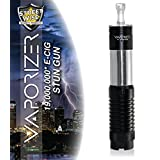 Diamondback Streetwise Vape Stun Gun Looks like a Vaporizer Electronic Cigarette but it is not. It has a built in Flashlight 19 million Rechargeable with FREE Survival Whistle (Black) (Color: Black)