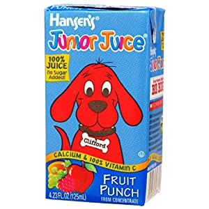 Hansen Beverage Fruit Punch Junior Juice, 4.23-Ounce Boxes (Pack of 44)