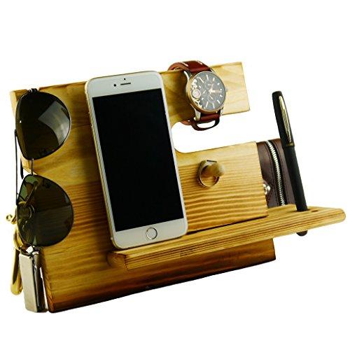 Lemo-Hand-Wooden-iPhone-Dockingstation-mit-Schlsselhalter-Stifthalter-Brieftasche-und-Uhr-Organizer-Mnner-Geschenk