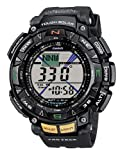 Casio Men's Pro-Trek Solar Powered Triple Sensor Digital Watch PRG-240-1ER With Resin Strap