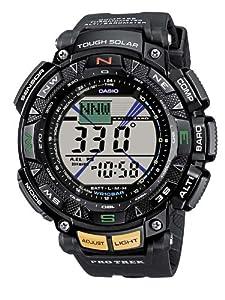 CASIO PRG-240-1ER Pro Trek - Reloj de caballero de cuarzo, correa de resina color negro (con altímetro, cronómetro, alarma)