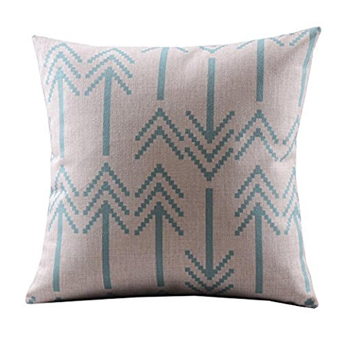 Sunnywill Pfeile Baumwolle Leinen dekorative Kissenbezug Throw Pillow Kissen Deckel quadratisch
