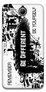 The Racoon Lean Be different hard plastic printed back case / cover for Alcatel Onetouch Idol X+