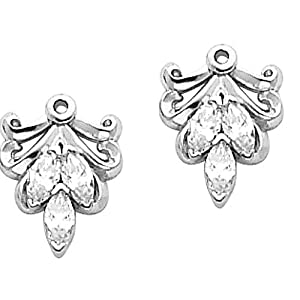 Pair of Platinum Diamond Earring Jackets - 0.30 Ct. -- LIFETIME WARRANTY