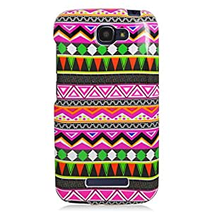 Eagle Cell Alcatel OneTouch Fierce 2 7040T/Pop Icon A564C Snap On Protector Case - Retail Packaging - Tribal Pattern