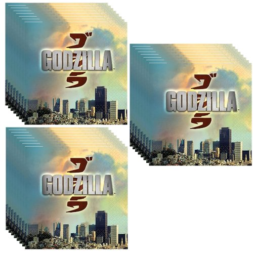 Godzilla Party Beverage Napkins - 48 Pieces